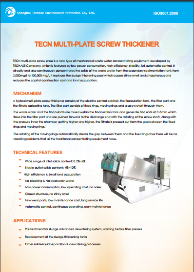 TECN multi-plate screw press