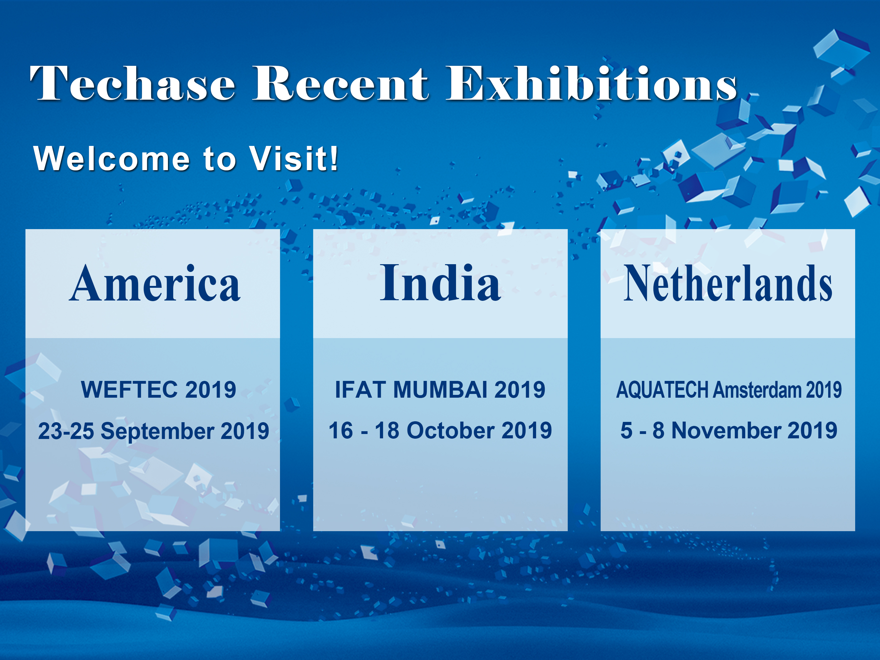 [Techase Exhibition Forecast] WEFTEC IFAT & AQUATECH